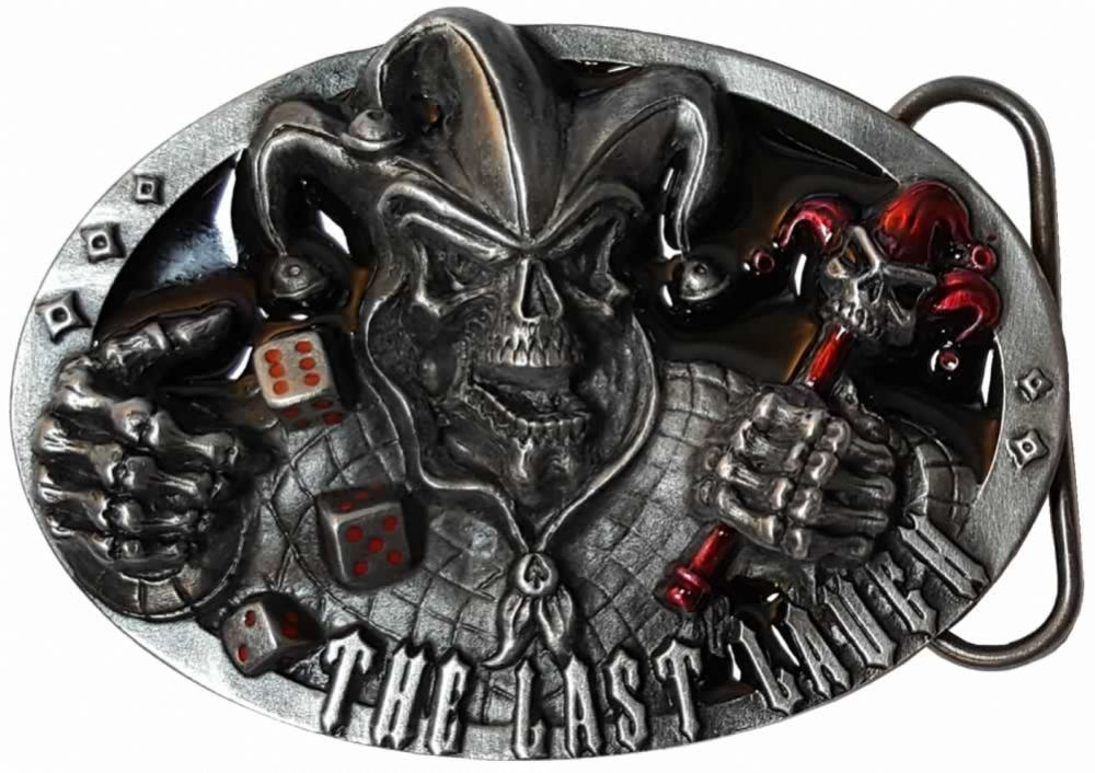 The Last Laugh Skull Jester Dice Belt Buckle Code Dm5